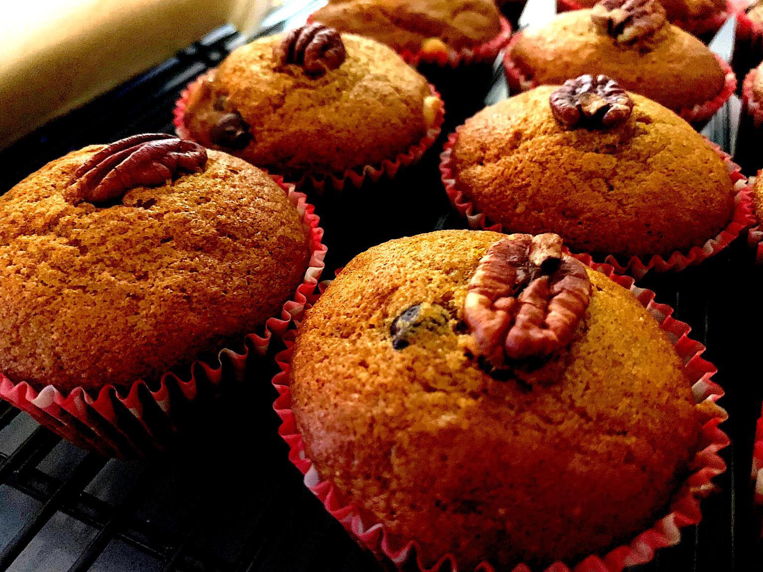 cooked pumpkin muffins