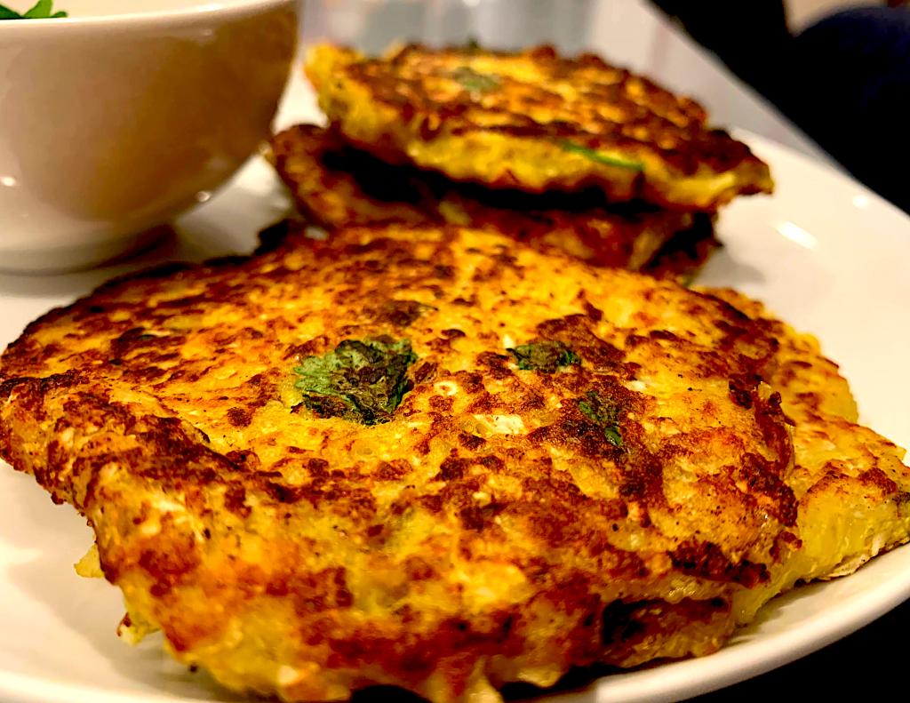cauliflower potato pancakes