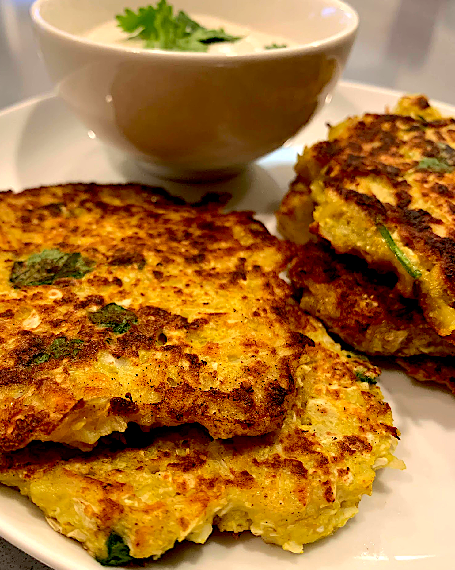 cauliflower potato pancakes